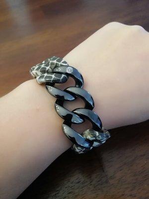 Hanse - Klunker Armband Schlangenmuster/ gun metal