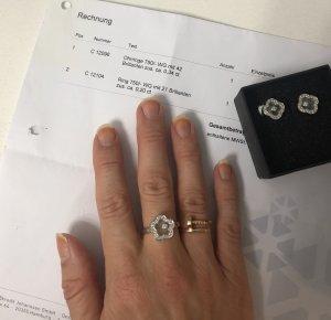 Happy Diamonds Set Ring Ohrringe 750 Weißgold 63 Brillanten