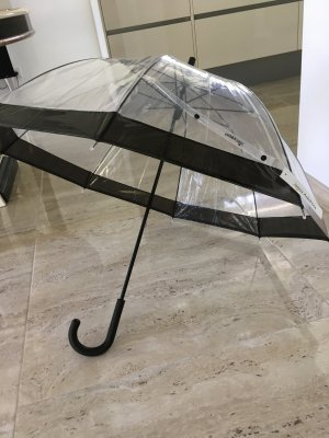 Essentials Walking-Stick Umbrella white-black