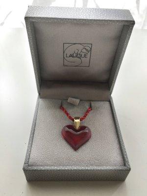 Happy Valentine ! Roter Herzanhänger aus Lalique Kristall