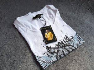 Harald Glööckler Pompöös T-Shirt Weiß Print Gr. 38