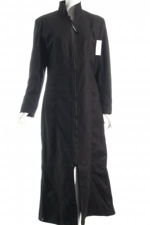 Hard Leather Stuff Wollmantel schwarz Street-Fashion-Look