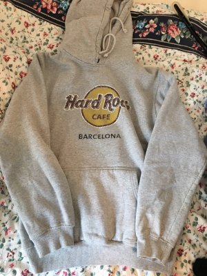 Hard Rock Cafe Maglione con cappuccio grigio chiaro