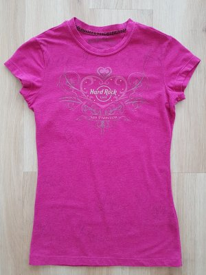 Hard Rock Cafe Couture T-Shirt mit Strass magenta / dunkelpink Gr. XS