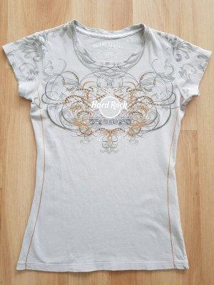 Hard Rock Cafe Couture T-Shirt mit Strass und Nieten grau Gr. XS *** sehr guter Zustand ***