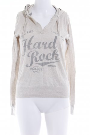 Hard Rock Cafe Longsleeve hellgrau-beige meliert Casual-Look