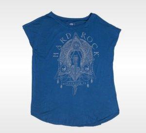 Hard Rock Cafe Camisa holgada gris claro-azul