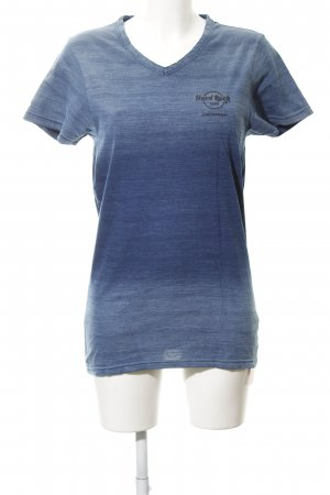Hard Rock Cafe T-Shirt blau Farbverlauf Casual-Look