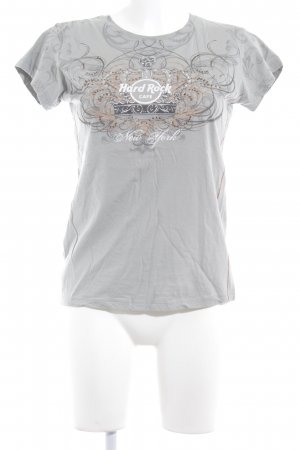 Hard Rock Cafe T-Shirt grau Ornamentenmuster Casual-Look