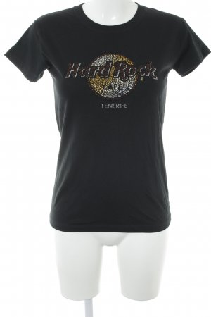 Hard Rock Cafe T-Shirt schwarz Glitzersteinverzierung