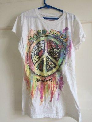 Hard Rock Cafe Tshirt mit Peace Zeichen, Größe S, 36