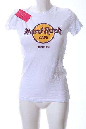 Hard Rock Cafe Maglia scollo a barca caratteri stampati stile casual