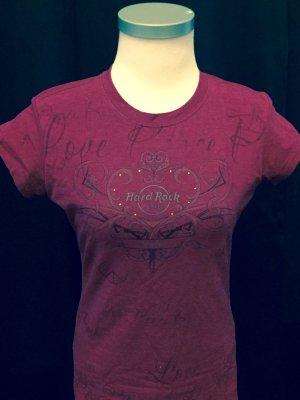 Hard Rock Shirt in dunklem Magenta