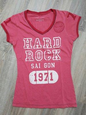 Hard Rock T-Shirt in rot, Gr. S