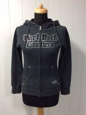 Hard Rock Cafe Hooded Vest black-dark grey cotton