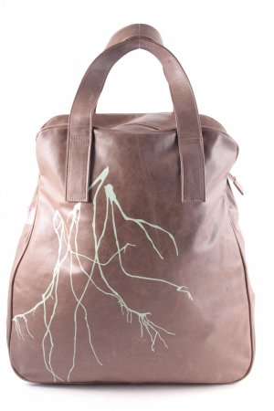 hardt roze Shopper brown-pale green abstract pattern casual look