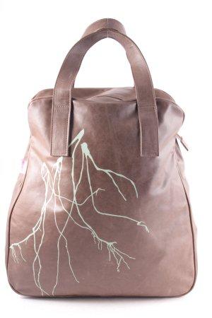 hardt roze Shopper braun-blassgrün abstraktes Muster Casual-Look