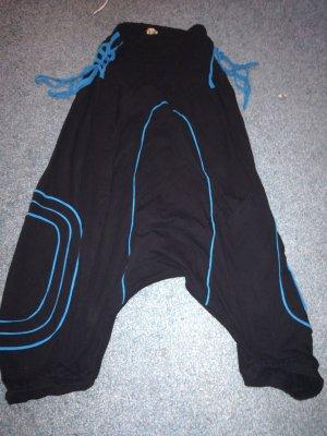 Harembroek zwart-korenblauw