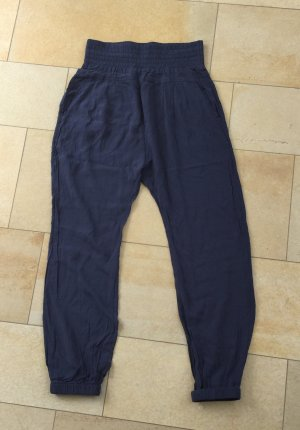 Donna by Hallhuber Harem Pants dark blue mixture fibre