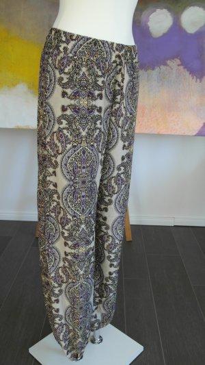 Pantalone a vita bassa oro-viola