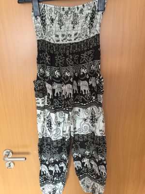 Harem Pants black-white