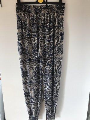 Pantalón estilo Harem azul oscuro-beige