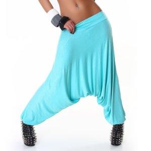 Jela London Pantalon large bleu clair coton