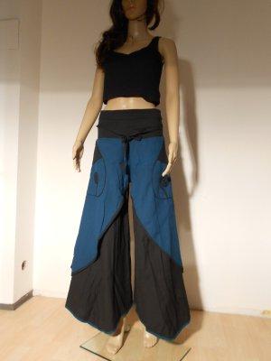 Harem Pants blue-dark blue cotton