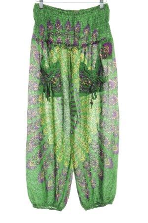 Sarouel motif embelli style hippie