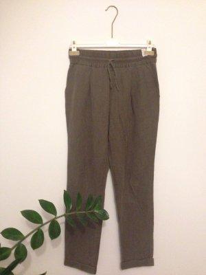 Zara Basic Harem Pants ocher mixture fibre