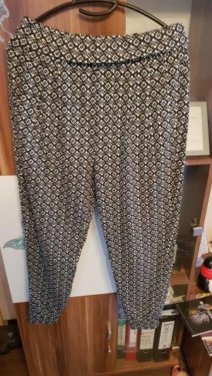 Harem Pants white-black