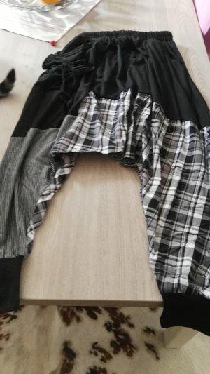 Harem Pants black-natural white