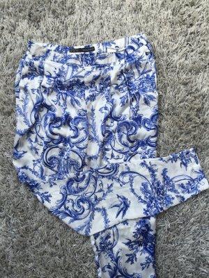 Haremshose Zara, weiß blau