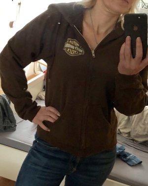 Harley Davidson Jersey con capucha marrón