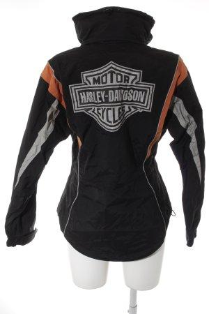 Harley Davidson Regenjacke schwarz-orange sportlicher Stil