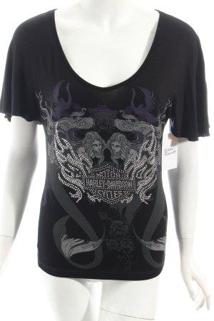 Harley Davidson T-Shirt Motivdruck Casual-Look