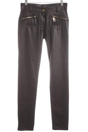 HARLEY Pantalón de cintura alta negro-color oro estilo fiesta