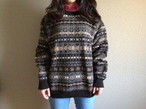 Jersey de lana marrón-marrón claro