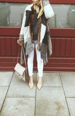 Cape silver-colored-azure cashmere