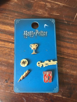 Harry Potter Fan Artikel Brosche Buttons Gold rot Anstecker gryffindor Hogwarts
