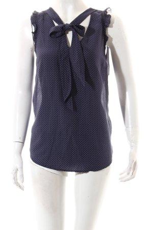 Hartford ärmellose Bluse dunkelviolett-blasslila Punktemuster Paris-Look