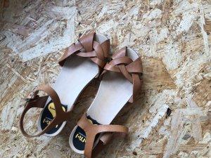 Swedish hasbeens Clog Sandals beige
