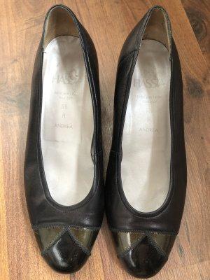 Hassia Schuhe Leder schwarz