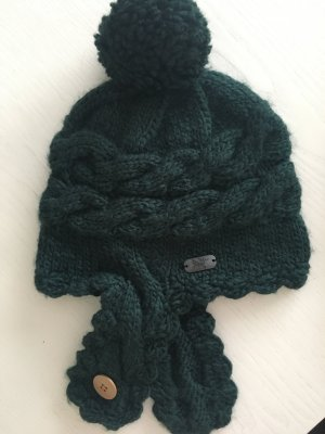 Crochet Cap dark green