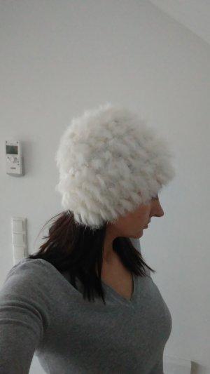Chapeau en fourrure blanc pelage