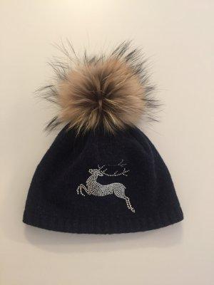 Fur Hat dark blue