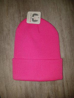 Haube Mütze One-Size pink