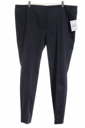 Hauber Bundfaltenhose dunkelblau Business-Look