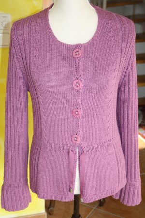 Hauber Collection Strickjacke / Sommerjacke flieder Gr. 36/38 (S/M) / wie NEU !