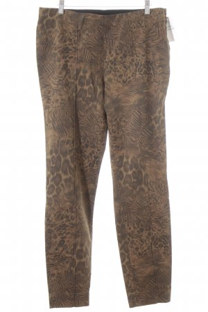 Hauber Khakis light brown-grey brown animal pattern casual look